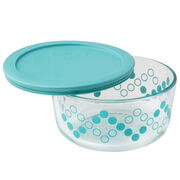 Simply Store® 4 Cup Turquoise Storage Dish w/ Lid