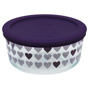 Simply Store® 4 Cup Purple Hearts Storage Dish w/ Lid