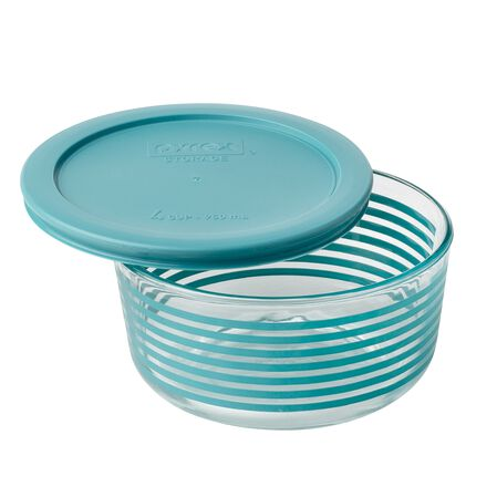 Simply Store® 4 Cup Turquoise Lane Storage Dish w/ Lid