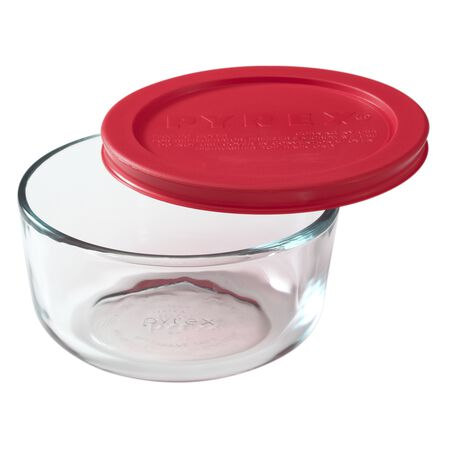 Simply Store® 2 Cup Round Dish w/ Red Lid