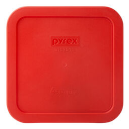 4 Cup Square Storage Plastic Lid, Red