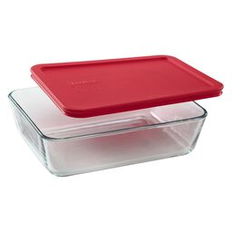 Simply Store® 6 Cup Rectangular Dish w/ Red Lid