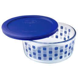 Simply Store® 4 Cup Blue Squared Storage Dish w/ Lid