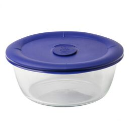 Pro 5 Cup Round Storage Dish w/ Blue Vented Lid