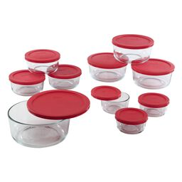 Simply Store® 20-pc Storage Plus w/ Red Lids