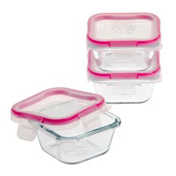 Total Solution™ Pyrex® Glass Food Storage Value 6-pc Square Set