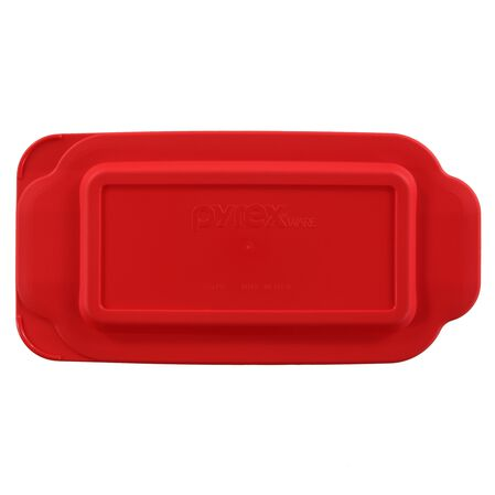 Plastic Lid for Pyrex 1.5-qt loaf pan, 213 Red