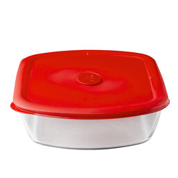 Pro 3-qt Rectangle Storage Dish w/ Red Vented Lid