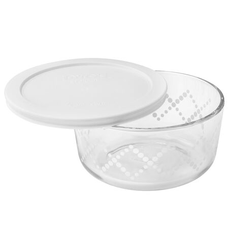 Simply Store® 4 Cup White Shooting Star Storage Dish w/ Lid