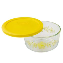 Simply Store® 4 Cup Butterfly Storage Dish w/ Yellow Lid