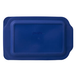 Watercolor Collection™ 3-qt Oblong Baking Dish, Blue Plastic Cover