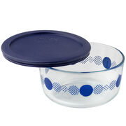 Simply Store® 4 Cup Navy Rings of Neptune Storage Dish w/ Lid
