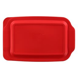3-qt Oblong Plastic Lid, Red