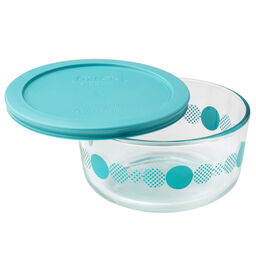 Simply Store® 4 Cup Turquoise Rings of Neptune Storage Dish w/ Lid