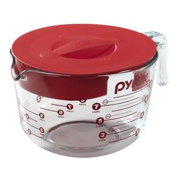 8 Cup Measuring Cup w/ Red Lid