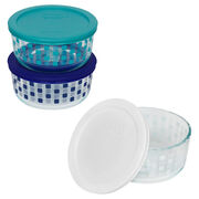 Simply Store® 4 Cup White Squared Storage Dish w/ Lid