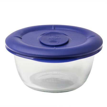 Pro 1.67 Cup Round Storage Dish w/ Blue Vented Lid