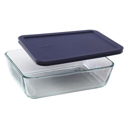 Simply Store® 6 Cup Rectangular Dish w/ Blue Lid