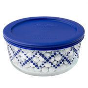 Simply Store® 4 Cup Cobalt Blue Shooting Stars Storage Dish w/ Lid