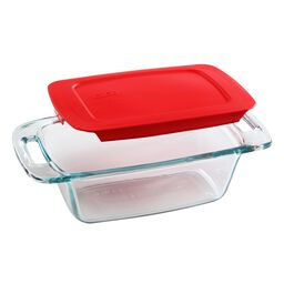 Easy Grab® 1.5-qt Loaf Pan, Red Plastic Cover
