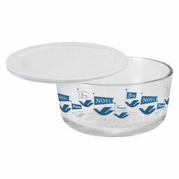 Simply Store® 4 Cup Peace and Joy Dove Storage (2016) Holiday Dish w/ White Lid