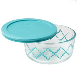 Simply Store® 4 Cup Turquoise Shooting Stars Storage Dish w/ Lid