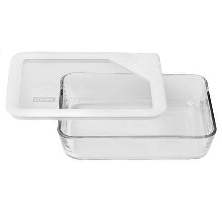 Ultimate 3 Cup Rectangular Storage Dish, White