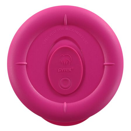 Pro 1.67 Cup Round Plastic Lid, Berry