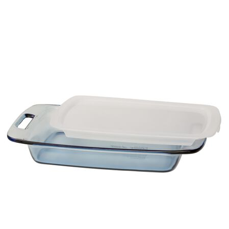 Easy Grab® 3-qt Oblong Baking Dish w/ Lid, Atlantic Blue