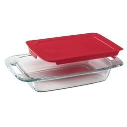 Easy Grab® 2-qt Oblong Baking Dish w/ Red Lid