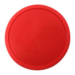 4-qt Round Mixing Bowl Plastic Lid, Red
